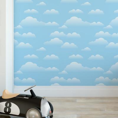 Papel de Parede Céu Azul com Nuvens