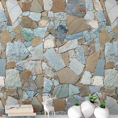 Papel de Parede Muro Canjiquinha Tons de Azul