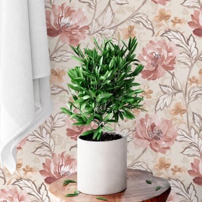 Papel de Parede Pintura Floral Vintage