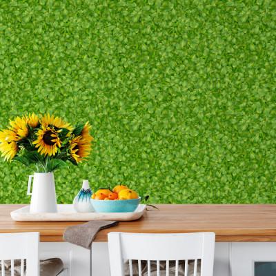 Papel de Parede Folhas 3D simples Verdes
