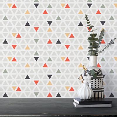 Papel de Parede Colorido com Triângulos