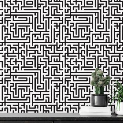 Papel de Parede Abstrato Labirinto