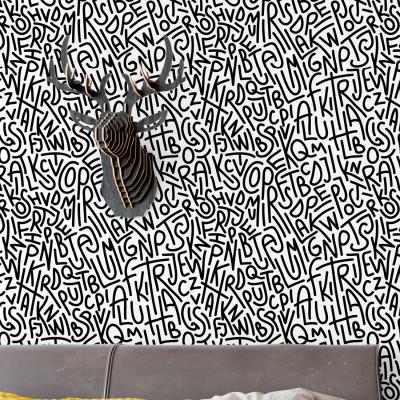 Papel de Parede Letras Abstratas
