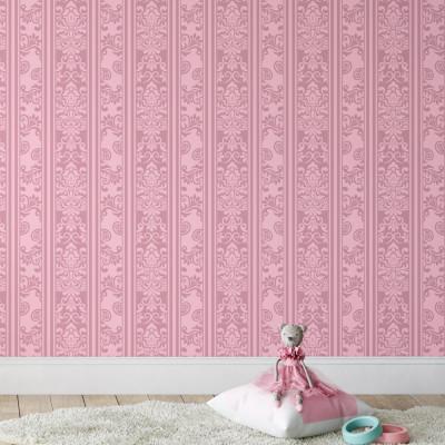 Papel de Parede Infantil Arabesco (Rosa Claro)