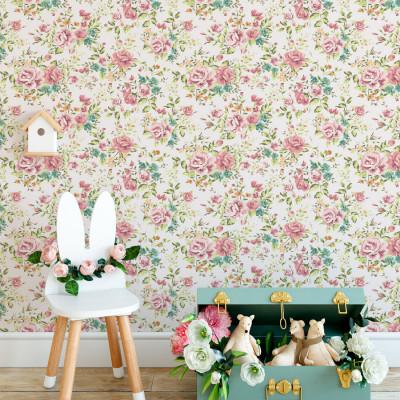 Papel de Parede Floral Delicado (Retro)