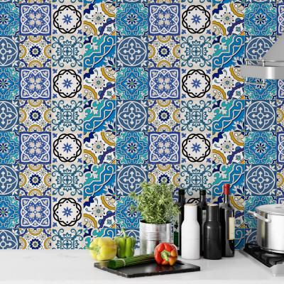 Papel de Parede Mosaico Azulejo Português