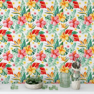 Papel de Parede Floral Tropical