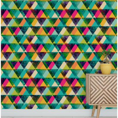 Papel de Parede Triângulos Coloridos Abstratos