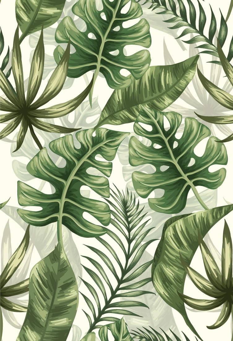 Papel de Parede Tropical Folhagens