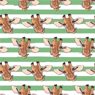 Papel de Parede Infantil de Girafas e Listras