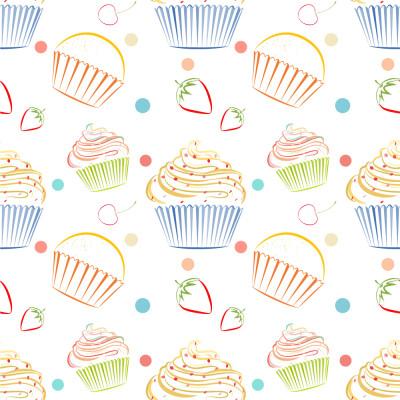Papel de Parede Confeitaria Cupcakes