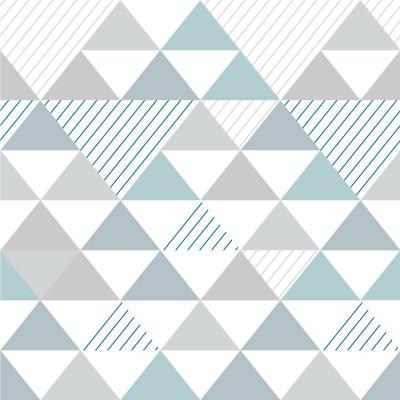 Papel de Parede Triângulos Azul Seco