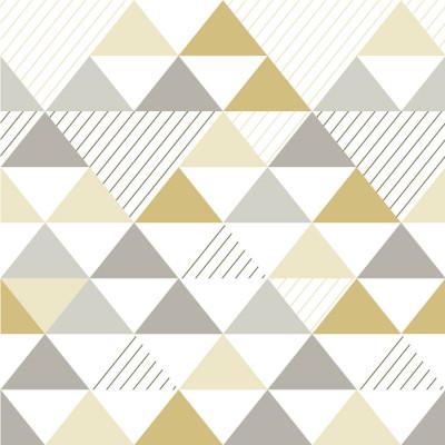Papel de Parede Triângulos Amarelo Seco