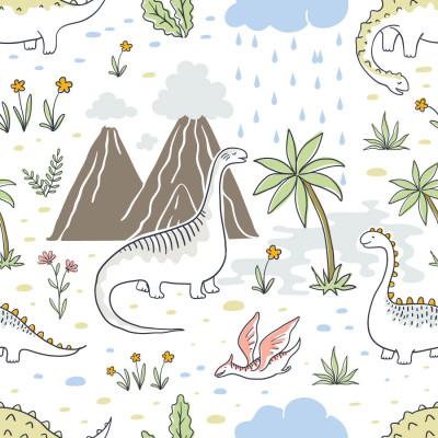 Papel de Parede Vale dos Dinossauros