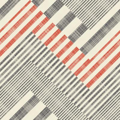 Papel de Parede Geométrico Abstrato Vermelho e Preto