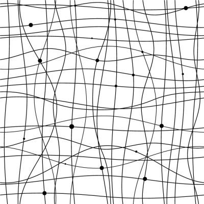Papel de Parede Abstrato com Linhas e Bolinhas