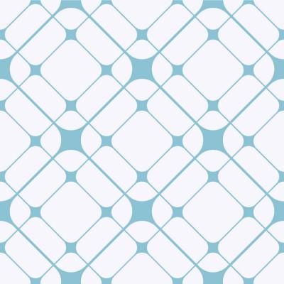 Papel de Parede Geométrico Quadriculado Teia Azul