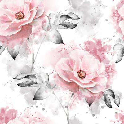 Papel de Parede Rosas em Aquarela