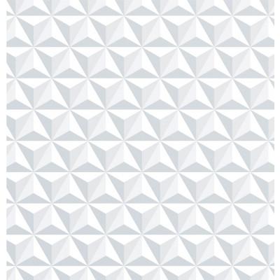 Papel de Parede Triângulos Brancos 3D
