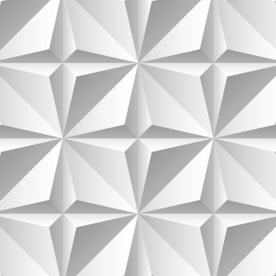 Papel de Parede Origami 3D Branco