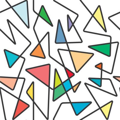 Papel de Parede Linhas Cruzadas (Coloridas)