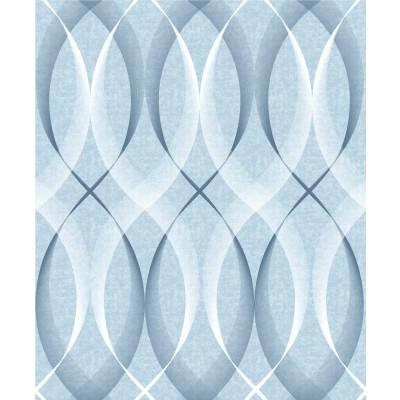 Papel de Parede Linhas Onduladas (Azul)