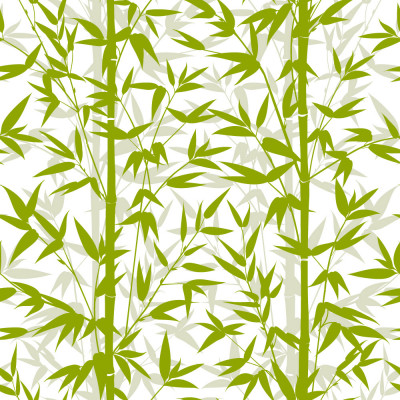 Papel de Parede Folhas e Bambus