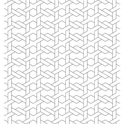 Papel de Parede Branco Geométrico Abstrato