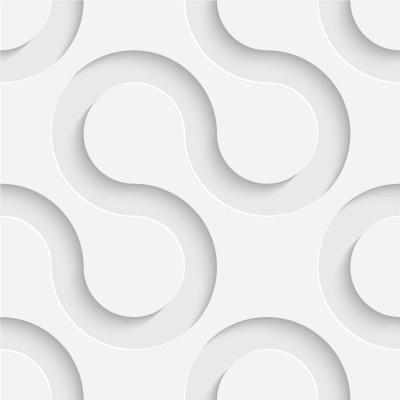 Papel de Parede Linhas 3D (Branco)