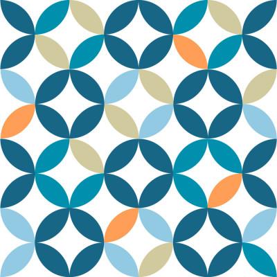 Papel de Parede Círculos Abstratos Coloridos