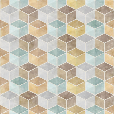 Papel de Parede Cubos Coloridos 3D