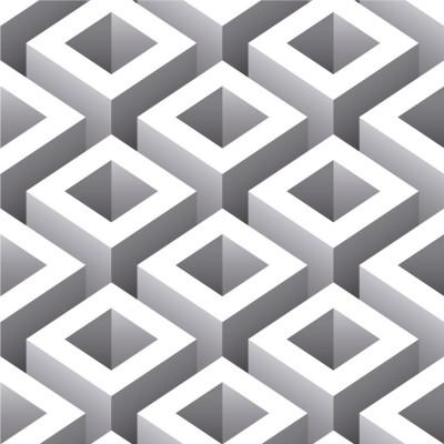 Papel de Parede  Quadrados Geométricos 3D