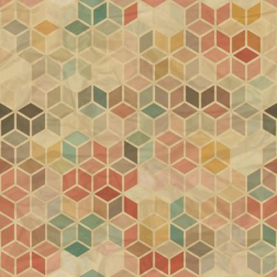 Papel de Parede Abstratos Cubos (Coloridos)
