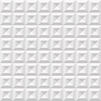 Papel de Parede Branco Quadrados 3D ll