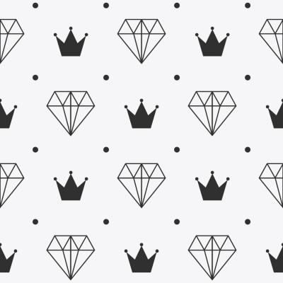 Papel de Parede Diamante e Coroa