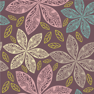 Papel de Parede Arabesco de Flores