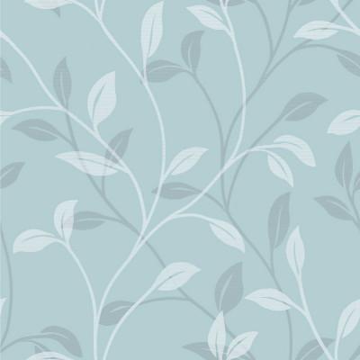 Papel de Parede Floral Delicadas (Azul)
