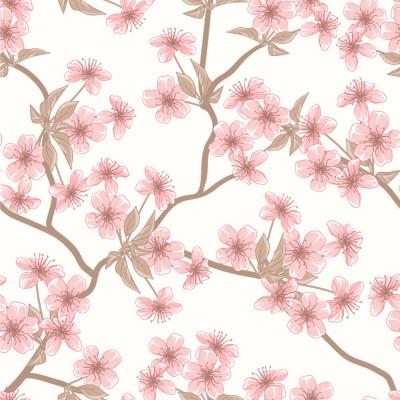 Papel de Parede Cerejeira Flores