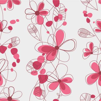 Papel de Parede Flores Pink