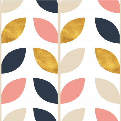 Papel de Parede Folhas Coloridas