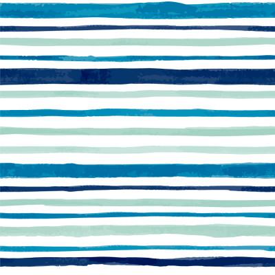 Papel de Parede Tons de Azul com Listras Assimétricas