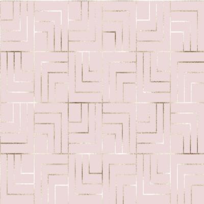 Papel de Parede Rose Gold com Linhas Cruzadas