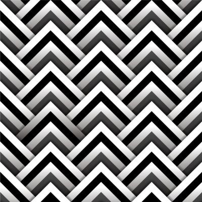 Papel de Parede 3D Triângulos (Preto e Branco)