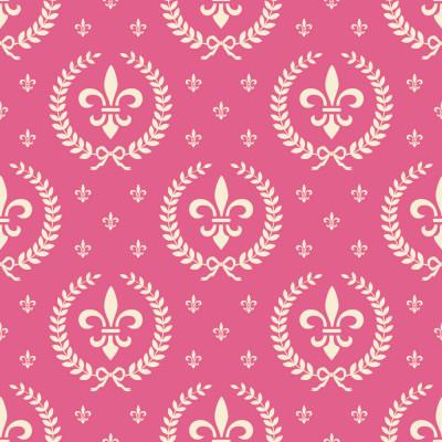 Papel de Parede Flor de Lis Rosa (Infantil)