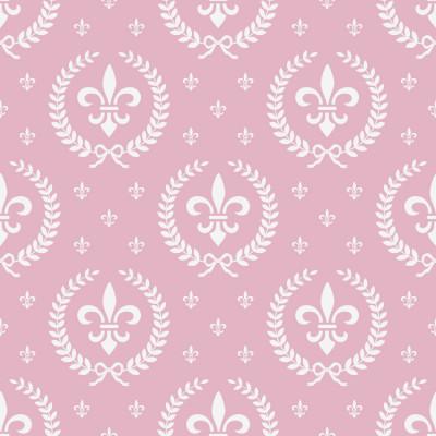 Papel de Parede Flor de Lis (Rosa Pastel)