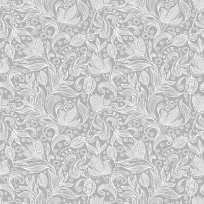 Papel de Parede Padrão Arabesco Floral