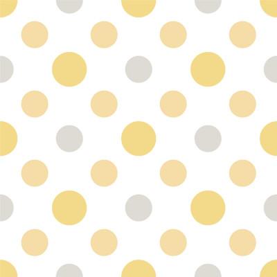 Papel de Parede Bolinhas (Tons de Amarelo)