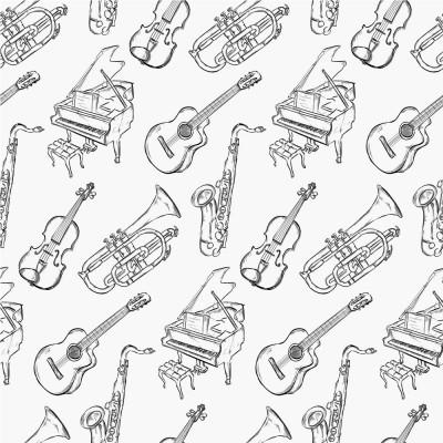 Papel de Parede Desenho Instrumentos Musicais