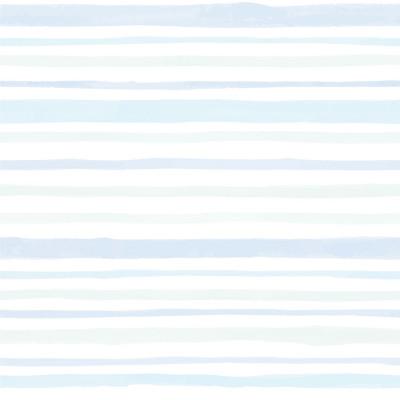 Papel de Parede Tons de Azul e Verde com Listras Assimétricas