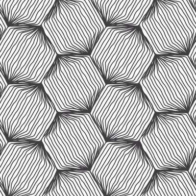 Papel de Parede Losango de Linhas Abstratas